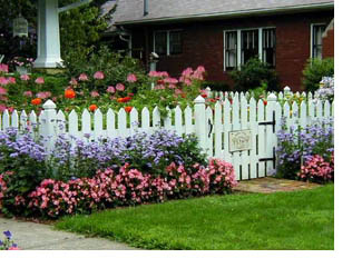 flower gardens by house